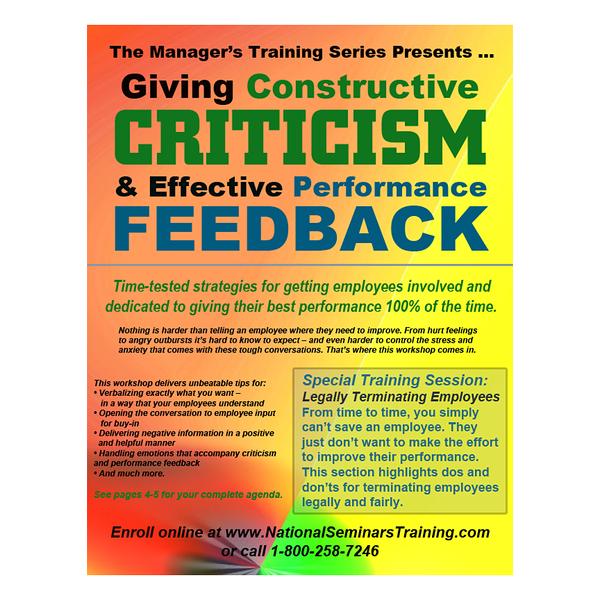 Brochure cover for National Seminars Training