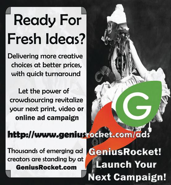 Print ad created for Genius Rocket