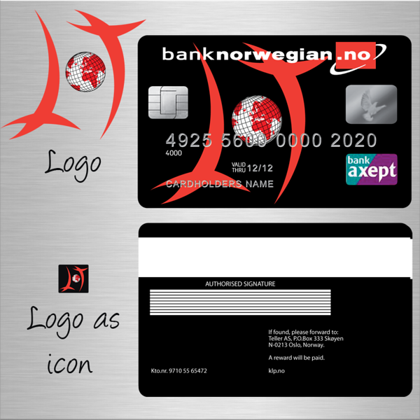 Design for an airline credit card.