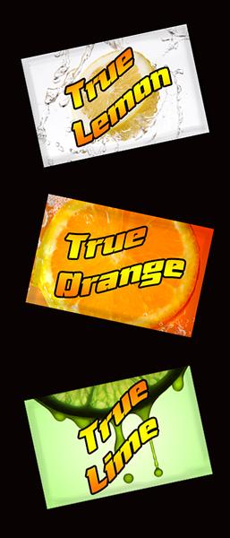 New packet design for True Lemon, True Orange, True Lime packets