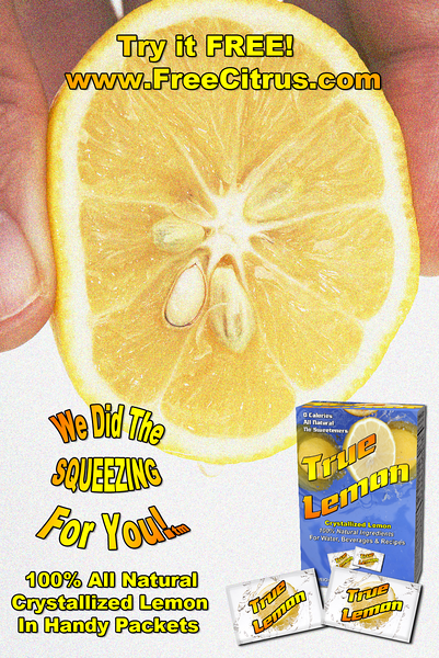 """New branding slogan """"We Did the SQUEEZING For You!"""" print ad"""