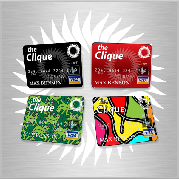 Student credit card design.
