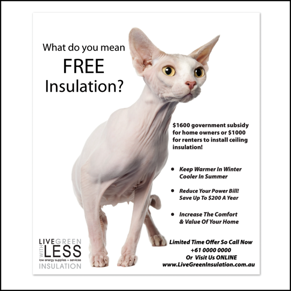 Print ad for insulation company.