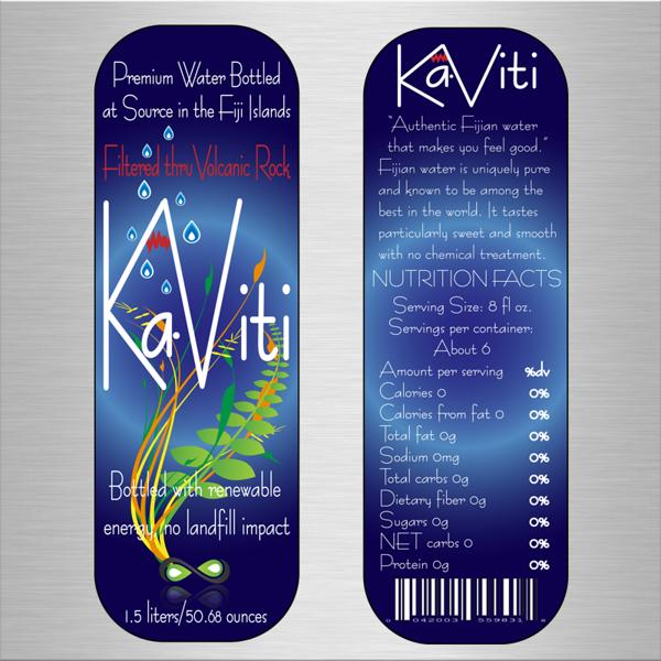 Label design for new bottled water.