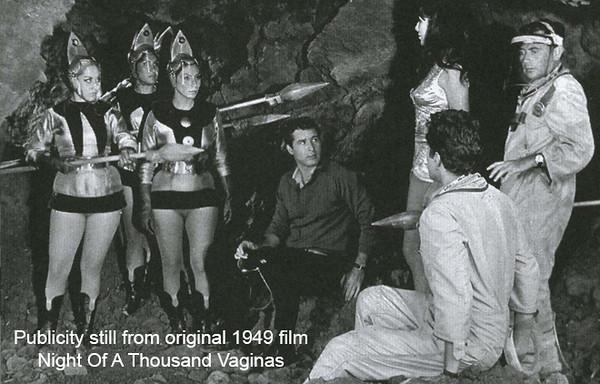 Publicity still from 1949 Night Of A Thousand Vaginas film