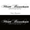 A combination of three typefaces were used for this unique logo for Micah Bowerbank photography.