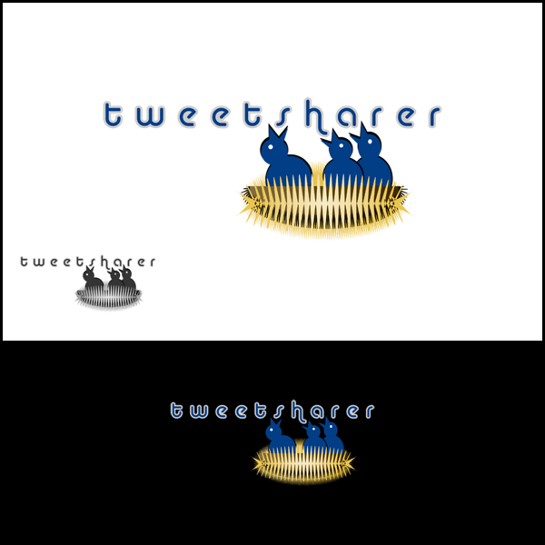 An original, hand drawn, vector based design for TweetSharer.com