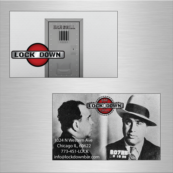 I used a real mug shot of Al Capone for this Chicago nightclub's business cards.