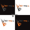 Four versions of Chris Venn inc. logo.  Bold & professional.  Icon works well with the text or stand alone.  Stands out on light and dark colored backgrounds, in full color and grayscale.