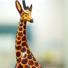 Day 239 -Some of the guys brought me this giraffe back from a trip to Uganda.  He sits atop my desk looking over some of the other animals. -APRIL 2