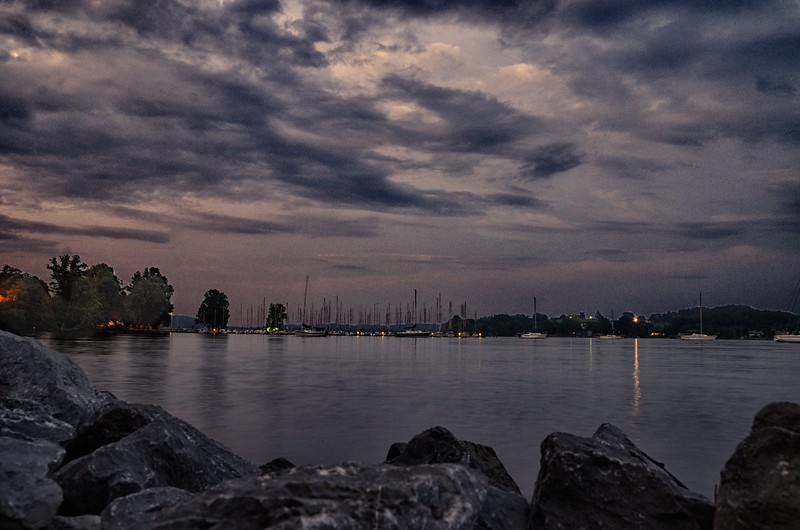 Day 325 -My good buddy and travel writer Jeff drove me by the Concord Yacht Club in Knoxville.  Mostly because he wouldn't drive me downtown.  However, we got a great shot of a beautiful evening on the water. -JULY 24