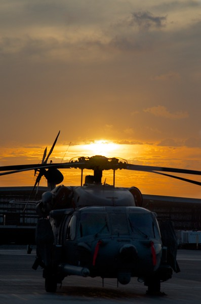 Day 223 -Working a late day but had a break and you can never go wrong with a helicopter and a sunset. -APRIL 16