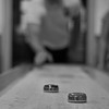 Day 167 -A night of shuffle board at the recreation club.  My buddy Jon LaDue was kind enough to pose for the photo.  However, don't let his good form fool you.  If you're just joining us, I gave up color for Lent. -FEBRUARY 19