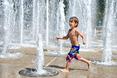 Day 354 -My new little buddy had a great time playing in the splash pad at World's Fair Park.  He was also very generous with his peanuts and goldfish.  It was a nice day for summer fun… before it's over. -AUGUST 25