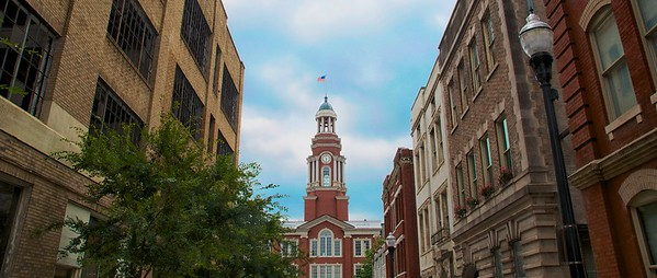 Day 360 -Downtown Knoxville today and it such a charming city.  Noticed the courthouse and it turned out great. -AUGUST 31