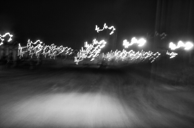 "Day 195 -This one is titled, ""ride back to my clu.""  I just used a 3 sec exposure set it on the Ranger as I drove the 5mph speed limit.  I can be abstract.  It was either this or the bathroom.  It's coming sooner or later. -MARCH 19."