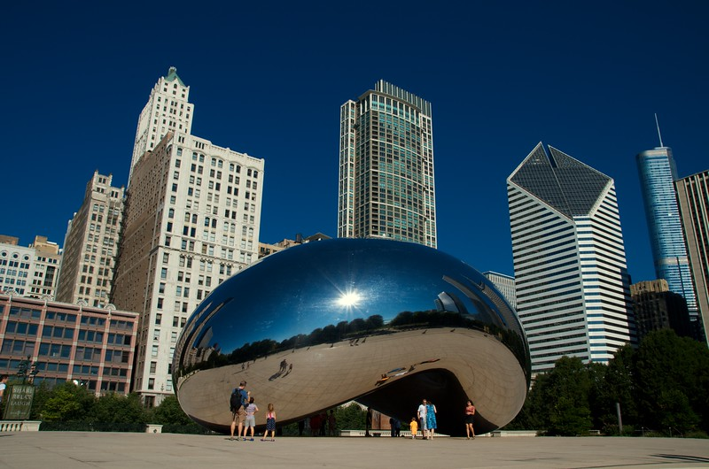 Day 352 -The cliched photo of the bean.  It was good to spend the day back in Chicago.  I've passed through a lot usually getting there at night and leaving the next morning.  Today I walked the old neighborhood, saw the park, and even strolled by the old apartment.  It's a great city, no doubt about it. -AUGUST 25