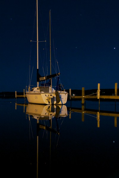 Day 024 -Another night shot, but it was too nice to pass up.  You can't go wrong with a sail boat right? -SEPTEMBER 29