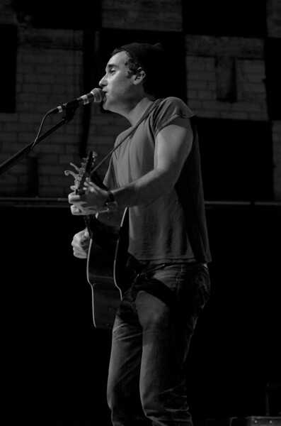 Day 050 -Over the past couple few years I've become a huge fan of this man, Mr. Joshua Radin.  I was lucky enough to use my photo project as a means to score a photo pass for the show.  Thanks Josh, you rocked…well whisper rocked. -OCTOBER 25