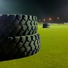 Day 308 -On my way to the room and noticed the giant tires on the field for crossfit.  I needed a photo so why not. -JULY 10