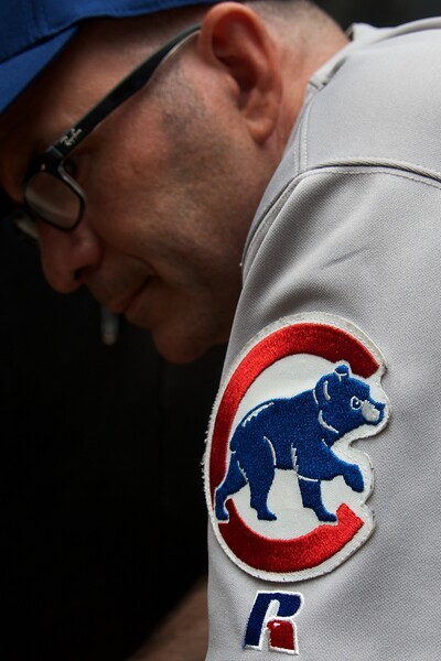 Day 208 -It's been my annual tradition to dawn my jersey and hat to support my beloved Cubs on opening day.  Unfortunately for Cubs fans that's the one day filled with the most hope.  I was thinking how cool it would be to have a subdued camp patch like this one on my uniform.  However, such a thing is against Air Force regulation and I have far too much respect for the rules and to those who make sure I follow them.  LET'S GO CUBBIES.  -APRIL 1 OPENING DAY