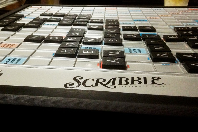 Day 276 -Scrabble night here and I didn't fair so well.  Truth be told I was ready for movie night and didn't try to hard.  However, I was a winner of t-shirt for a drawing they were having at the club. -JUNE 8