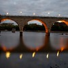 Day003 -I decided to head downtown for today's shot.  I had something in mind, but this turned out a lot better.  Appropriately named the Stone Arch Bridge, I have a feeling this isn't the last time we'll see this in the project. -SEPTEMBER 8