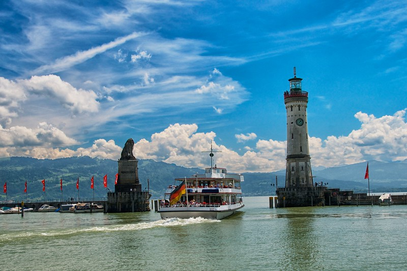 Day 273 -Took a quick trip to Lindau, which is a cute little place with a small island.  The ferry was going to Switzerland just across the lake.  I wanted to go, but didn't have the time. -JUNE 5