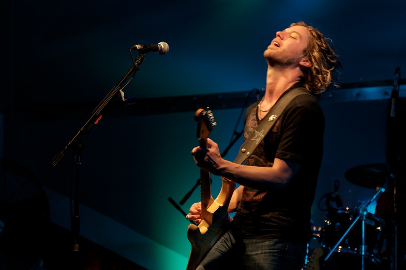 Day 286 -Country singer Casey James came to Djibouti to play for us troops.  It's a tough crowd to get into the show when it's 99˚out 9:00 but he rocked the house. -JUNE 18