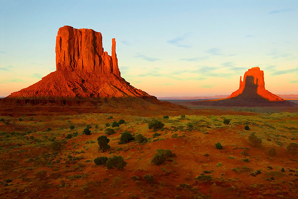 Monument Valley, Shadow on Right Mitten, Sept 2008