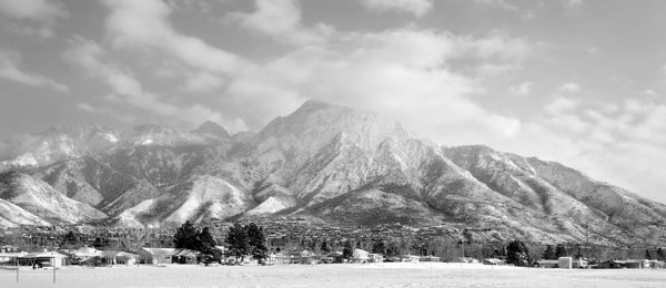 Mt. Olympus in Snow, Salt Lake City, Jan 2006