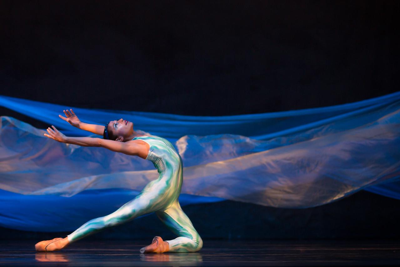 Dancers Jenna McClintock as Water Spirit in Michael Lowe's Legend of the Seven Suns