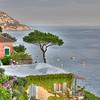 Cliffside in Positano, Italy