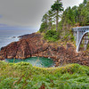 """Oregon Coast Bridge""-Every year I make an effort to travel to Oregon to photograph the coast. Ever changing, ever beautiful. It's a great place to just slow down and enjoy nature's wonders. This part of Oregon's central coast is very rocky and makes for touching compositions."