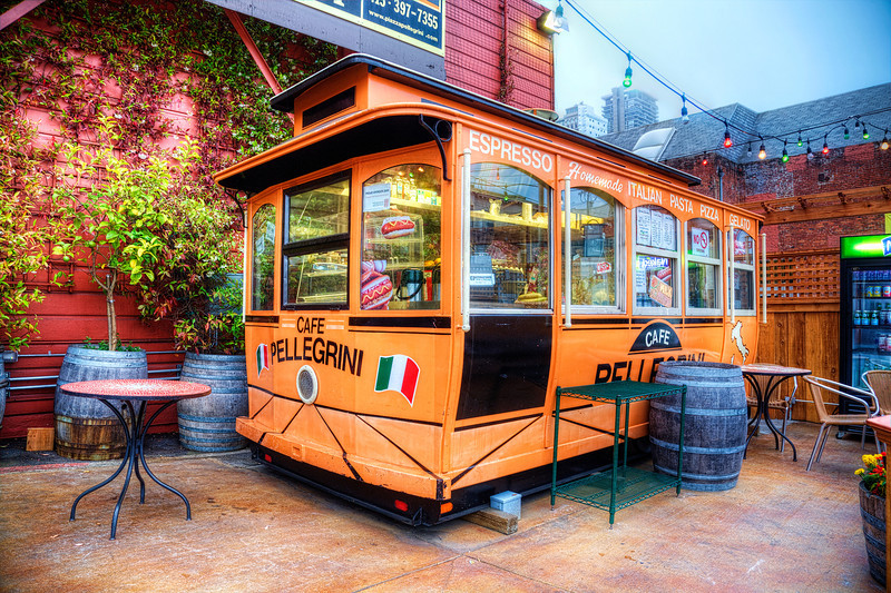 "Italian District in San Francisco, California<br /> This little Italian food cart had a charm all it's own, tucked along a major street of competing Italian restaurants that seemed to be everywhere. I spent 2 years in Italy, so as they say in Italian; ""Amo il cibo Italiano""!"