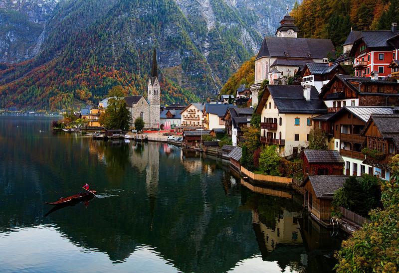 Gondola in Hallstatt, Austria