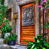 """Buy This Photo""-""Doors of Pride""-Dubrovnik, Croatia-In Dubrovnik,Croatia, the many stairs within the old city walls lead to fancy doors. The centurys-old homes outlived the well-kept doors showing pride of ownership. As steep as the corridors of stairs were, I would walk up and down each one searching for the fanciest ones. Quite winded most of the time, I knew the entryways would make great HDR photos. Hope you agree."