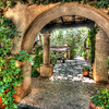 """Columns and Gardens, Sedona""-It's not easy finding Wi-Fi sometimes when you're traveling. We're high in the mountains of Nevada in Lake Tahoe. Weathers fabulous and hope to get some great shots around the lake. It's been 10 years since the last visit. Stayed at the Cottage Inn on the east side of Lake Tahoe, but no Wi-Fi last night so I'll catch up today.<br /> <br /> In Sedona, is a beautiful shopping area called  Tlaquepaque (pronounced Tla-keh-pah-keh)  that is a great stop for art lovers. I love all the spanish influenced architecture with gardens and columns, stairs and tiled walkways everywhere.  Makes for great HDR photos."