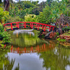 Smith's Tropic Paradise, Kauai-In Kauai last week, took in a Luau at Smith's Tropic Paradise. It had beautiful grounds to wander around for hours if you chose. I got there at a great time for photos. The clouds were very dramatic and lighting was perfect. A wedding had just commenced on this bridge, so when everyone cleared out I grabbed a chance to grab a few shots. Fabulous night, weather was perfect and a great spot to spend an evening, if you're ever on the island of Kauai.
