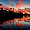 Amazing Arizona Sunsets<br /> Each evening when I'm home in Phoenix, Arizona, I like to keep an eye out for the formation of clouds, as it approaches sunset. I happen to live in a small lake community, where within minutes I can be at the shore-line looking for a vantage point to catch a silhouetted view over the palm  trees. Usually it's hit or miss, but all the more worth it, when you catch a good one. I always say, you  don't have to wander far from your back yard to catch some interesting shots. If you want to get better at your photography, just be willing to get out of the house and..shoot..shoot..shoot!