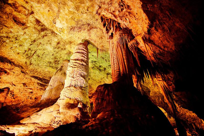 """""""Towering Stalagtite"""". Carlsbad Cavern. NM"""