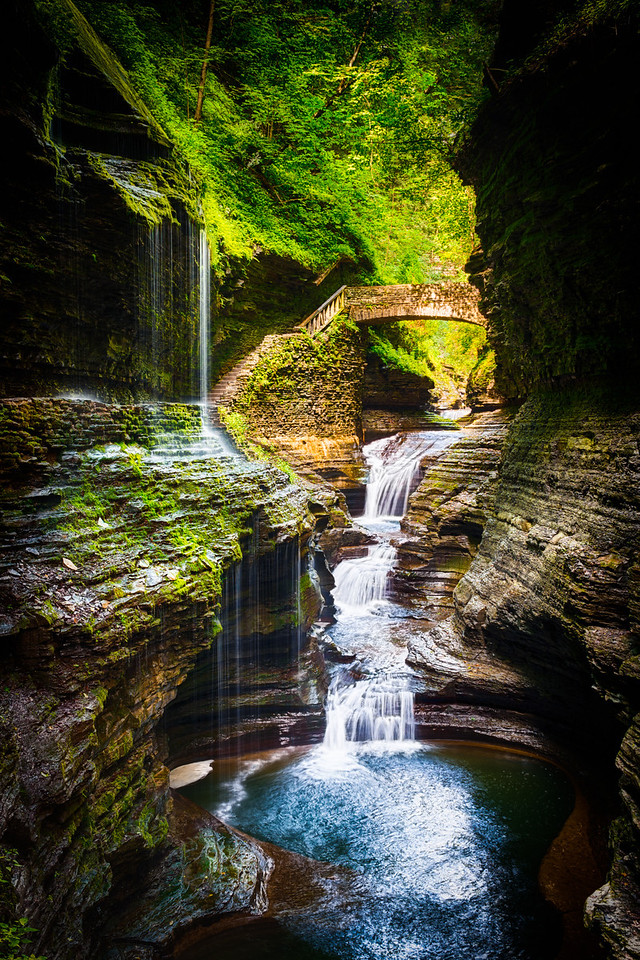 The Gorge at Watkins Glen State Park Waterfall