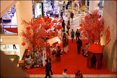 Chinese New Year Decorations at Berjaya Times Square