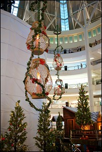 Xmas decorations at Suria KLCC