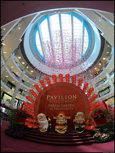 Chinese New Year decorations at Pavilion Kuala Lumpur