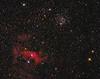 NGC 7635 Bubble Nubula and M52 Star Cluster 10172020