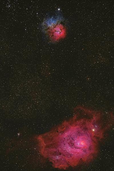 M8 and M20 Lagoon and Trifid Nebulae 07032021