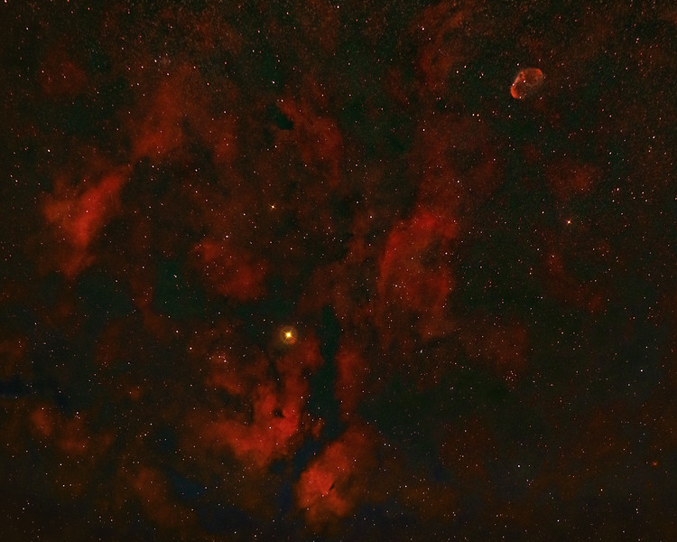 Sadr Region and Crescent Nebula NGC 6888