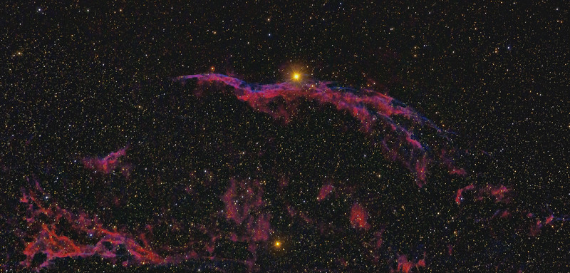 NGC 6960 and 6974 Central and Western Veil Nebula 08252020