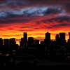 October Sunrise over Denver Skyline<br /> <br /> Denver, Colorado